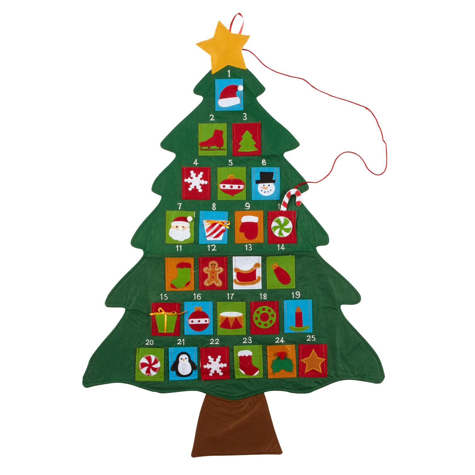 Christmas Tree Advent Calendar With Ornaments