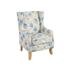 Floral Upholstered Chair Office Customer Chairs Beige Blue Arm Christmas Tree Shops And That
