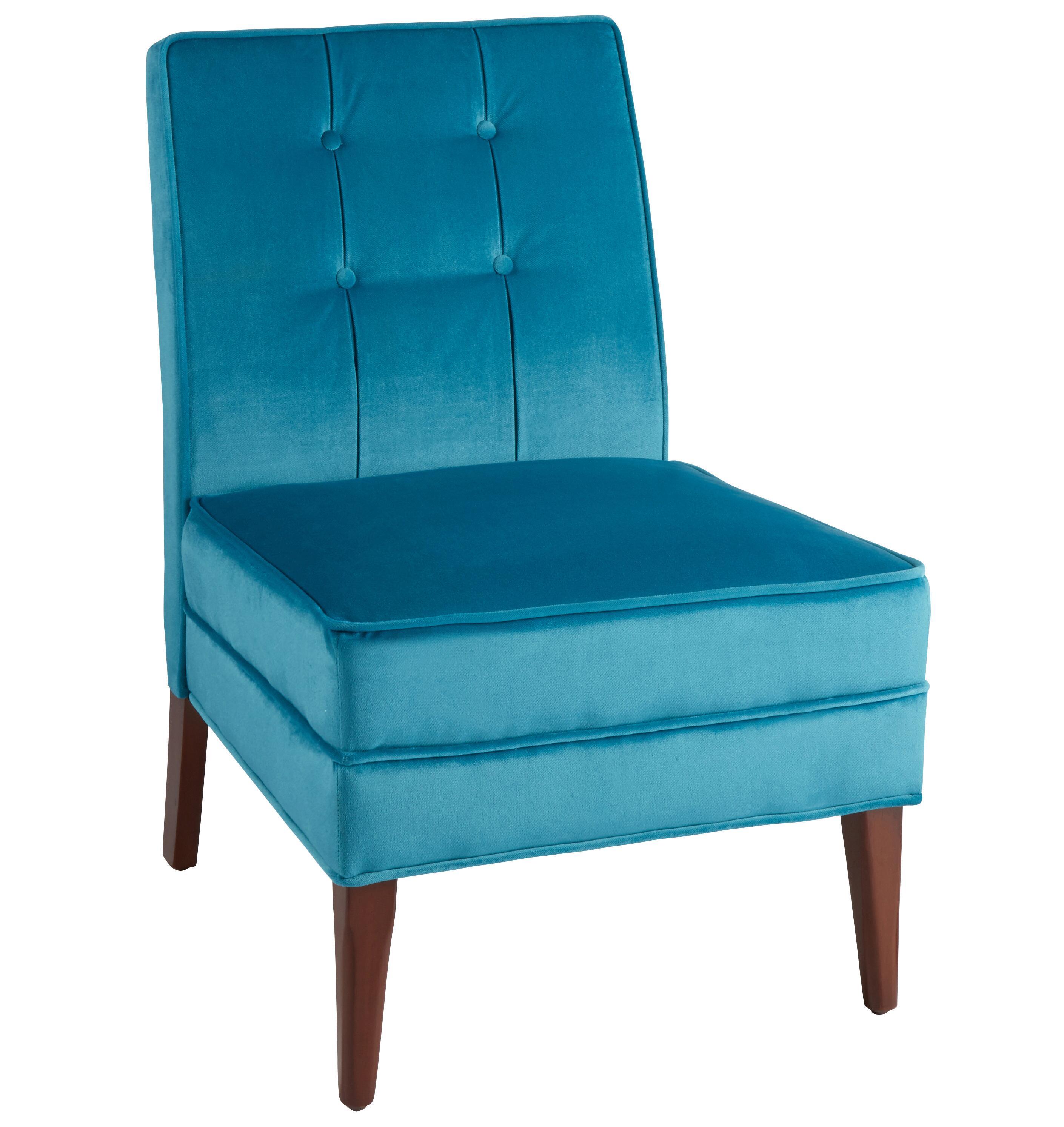 Teal Velvet Tufted Slipper Chair  Christmas Tree Shops