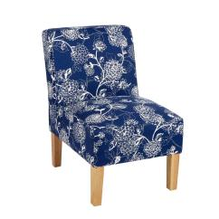 Floral Upholstered Chair Belmont Barber Parts Dark Blue Slipper Christmas Tree Shops And That