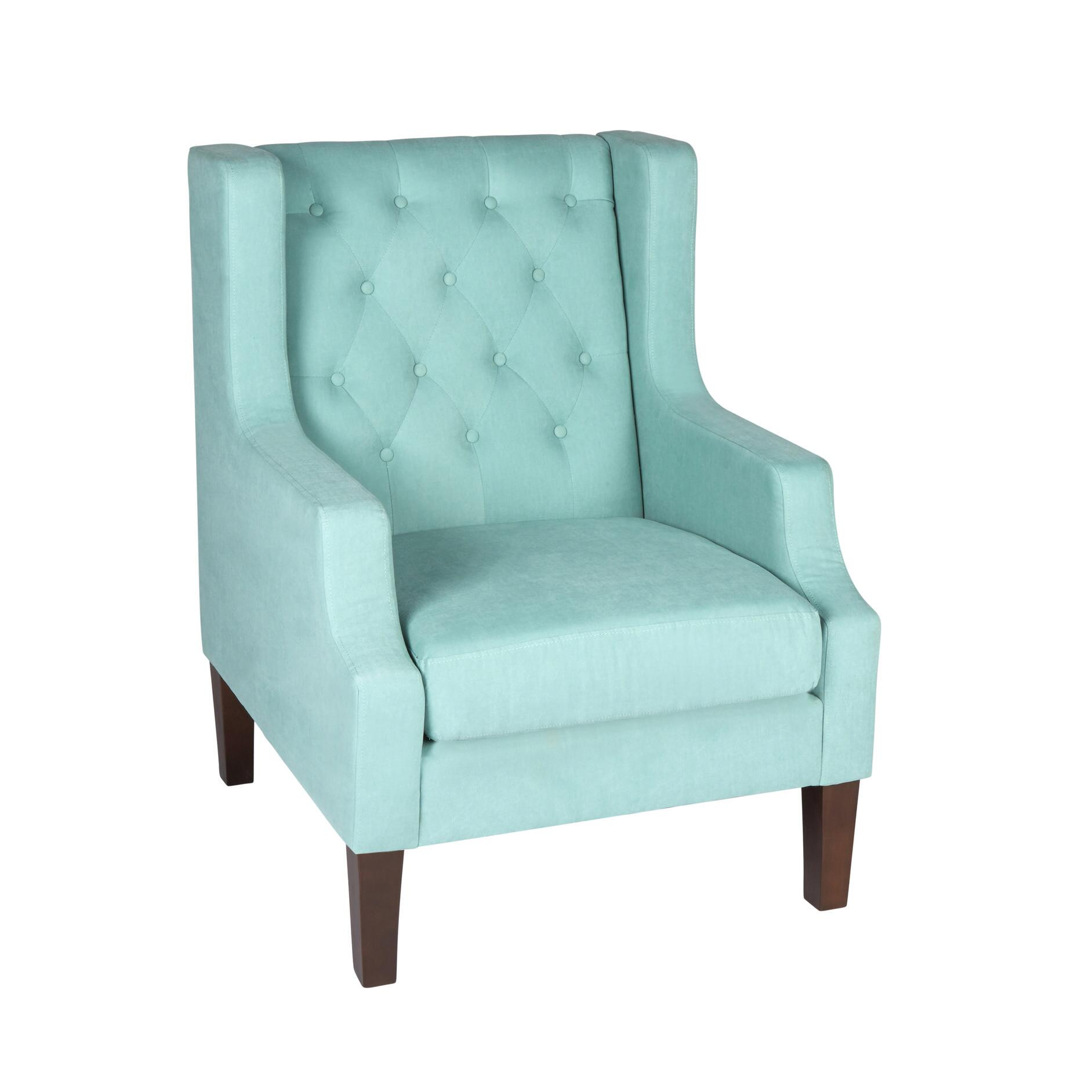 blue green chair amazon baby high accent chairs christmas tree shops and that tufted upholstered wing