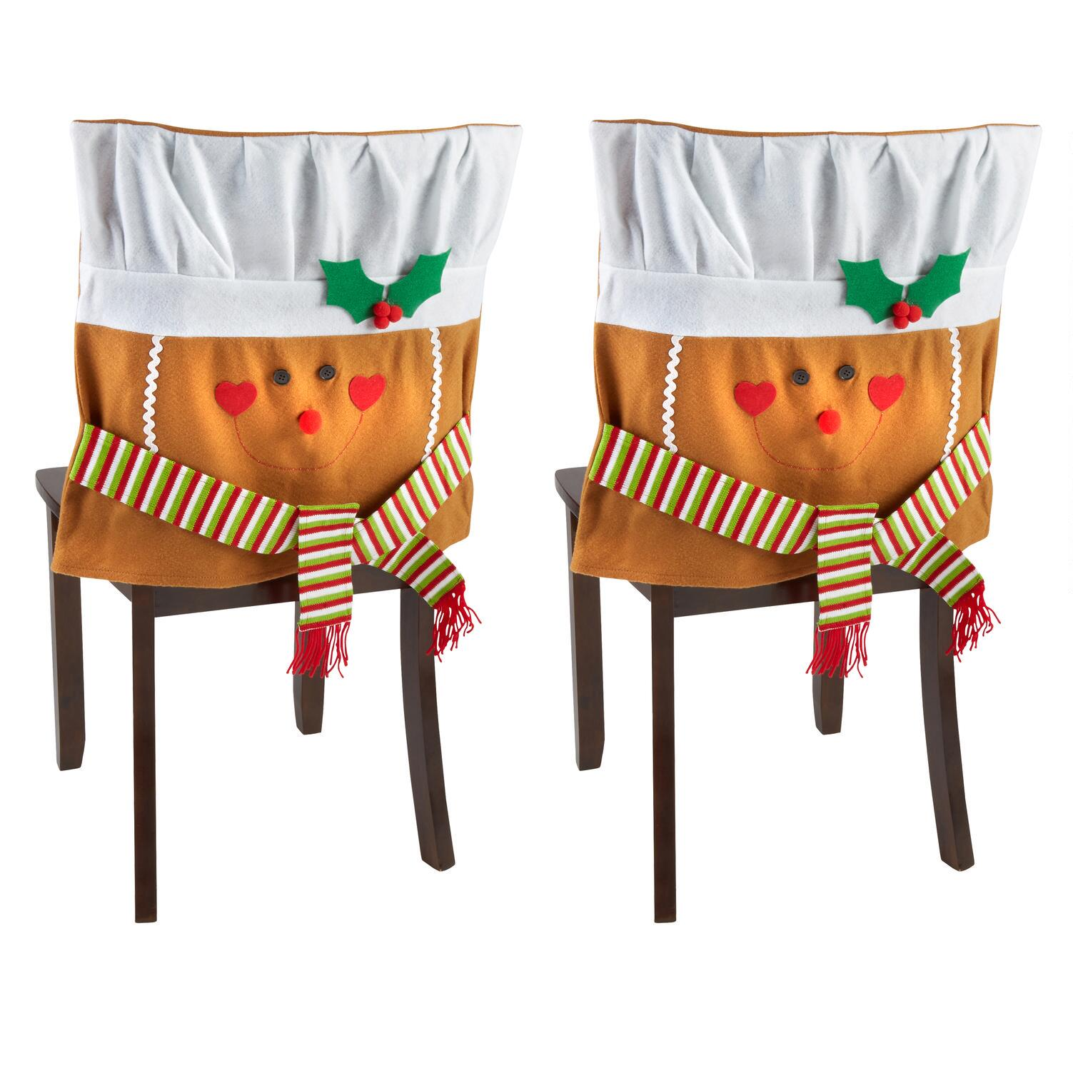 christmas elf chair covers single lounge gingerbread man set of 2 tree shops and that