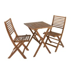 Folding Lawn Chairs Ontario Slipcovers For Wing Patio Sets Christmas Tree Shops And That Oxford Acacia Bistro Table Set 3 Piece View 1