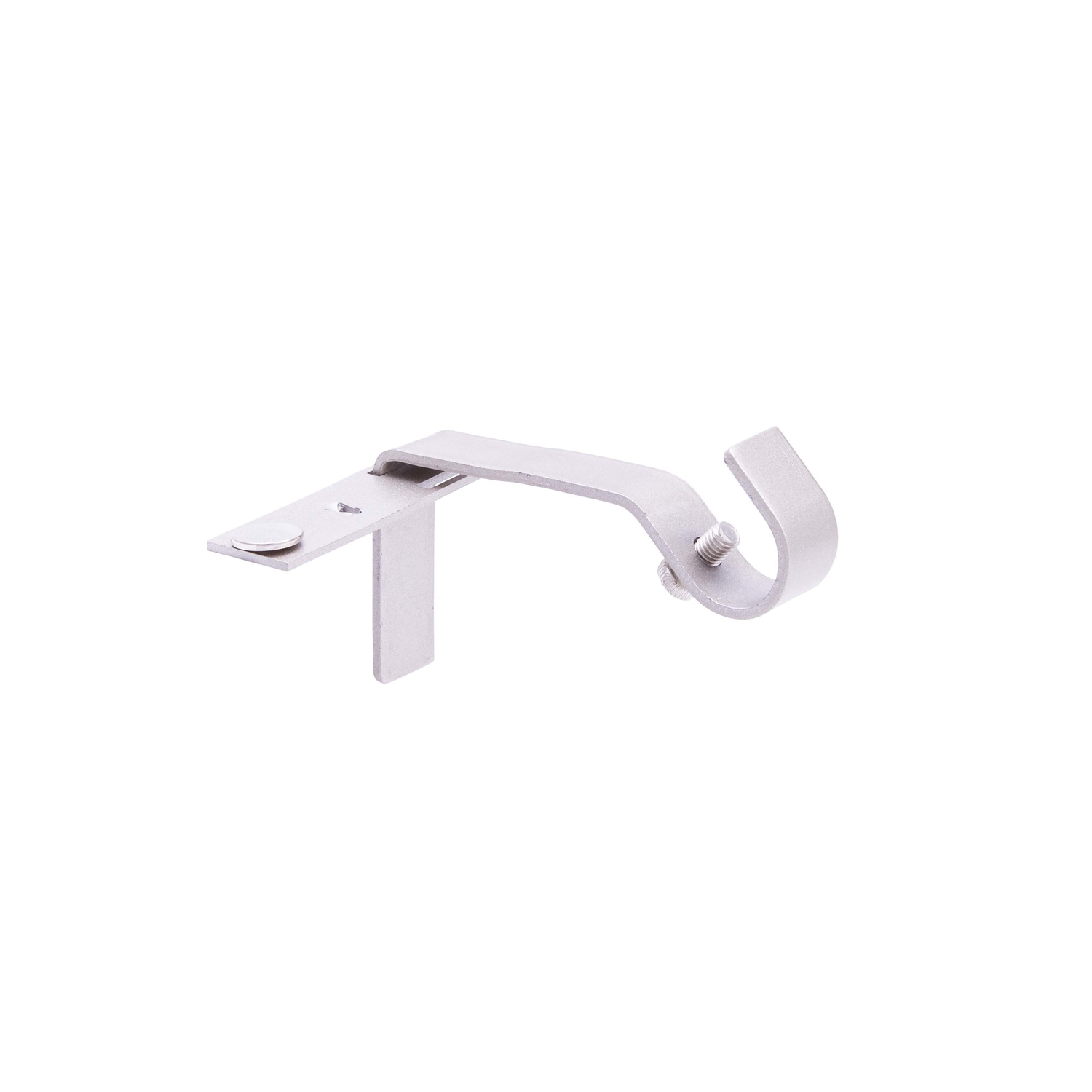 kenney fast fit brushed nickel silver curtain rod bracket 5 8 in l