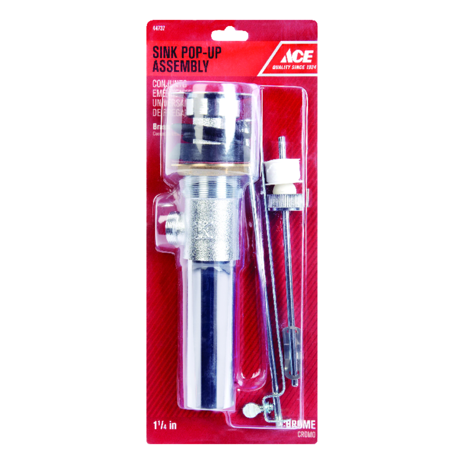 ace 1 1 4 in dia polished chrome pop up drain assembly