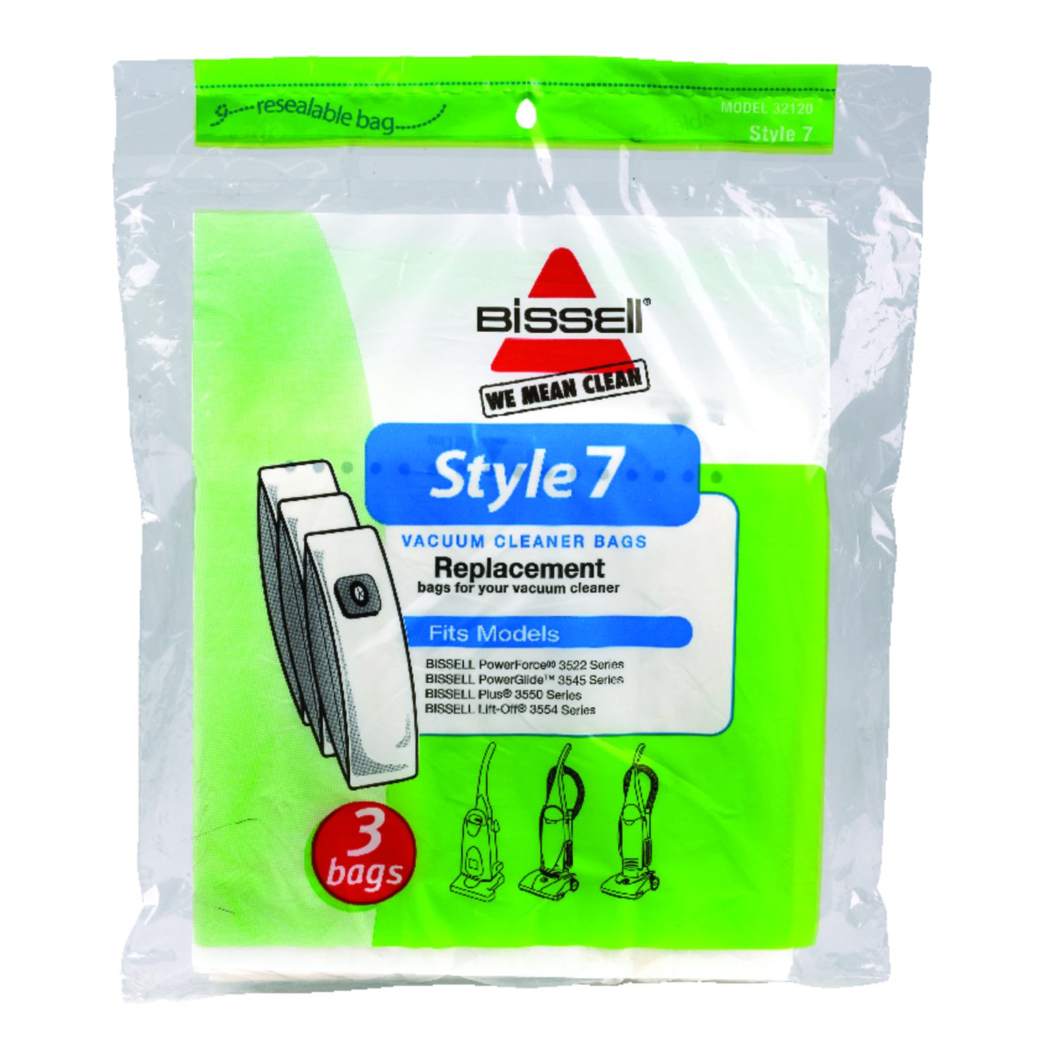 Bissell lift off vacuum bag style fits bagged pack also rh acehardware