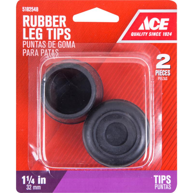chair leg fishing floats steel buy online ace rubber tip black round 1 4 in w 2 pk hardware