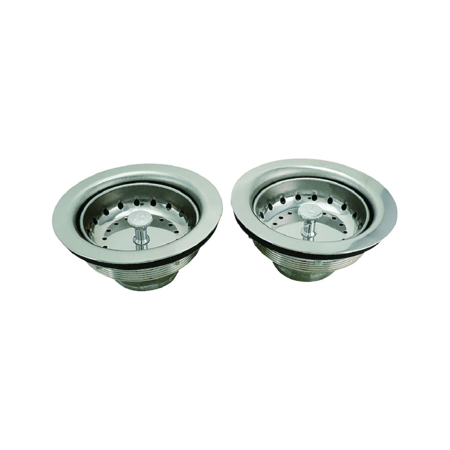 keeney 3 5 in chrome stainless steel basket strainer assembly