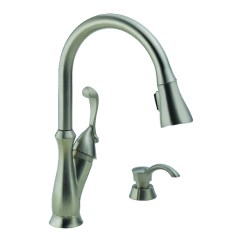 Pull Out Kitchen Faucets Bench Style Table Sink At Ace Hardware Delta Arabella One Handle Stainless Steel Faucet