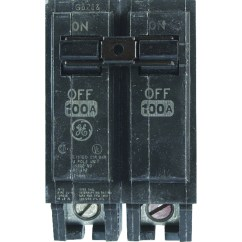6 Way Square Trailer Wiring Diagram Fetal Pig Nervous System Circuit Breakers Fuses Ace Hardware Ge Q Line 100 Amps Standard 2 Pole Breaker