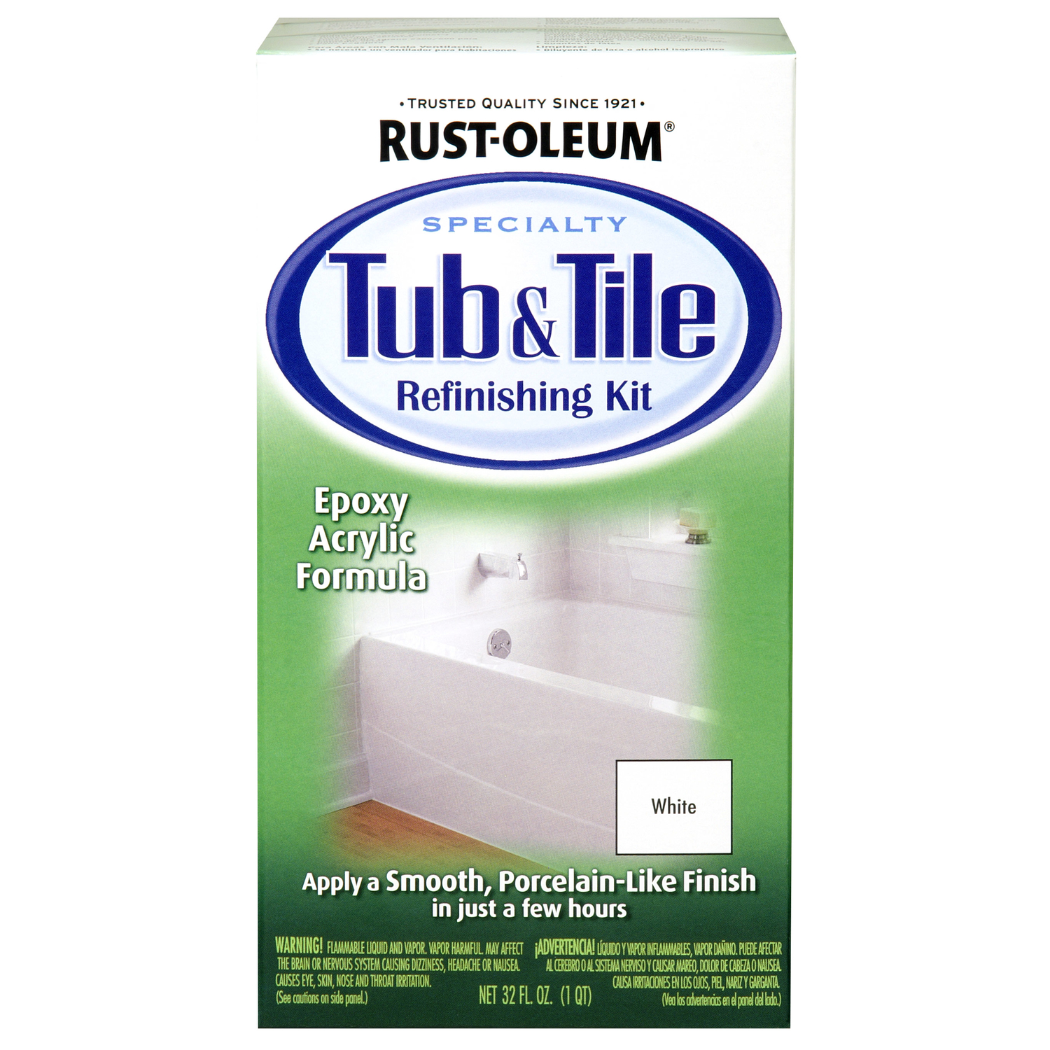 rust oleum specialty gloss white tub and tile refinishing kit interior 1 qt