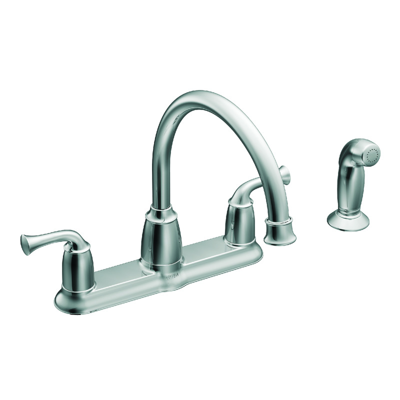 moen kitchen faucets pot filler sink at ace hardware banbury two handle chrome faucet side sprayer included