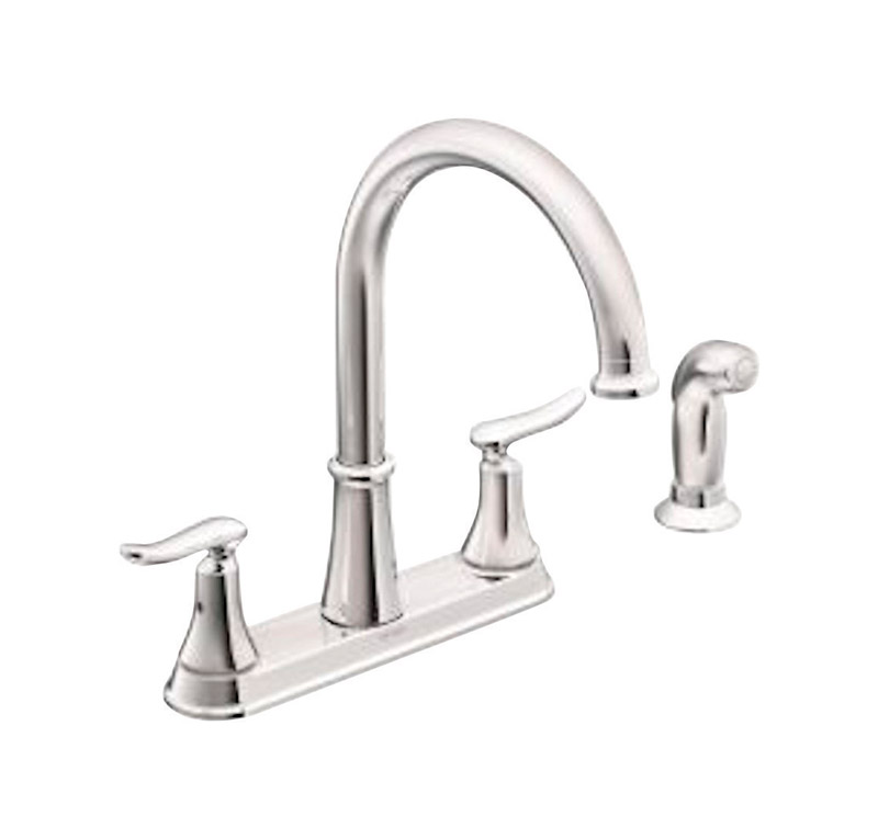 chrome kitchen faucet country light fixtures faucets sink at ace hardware moen solidad two handle side sprayer included