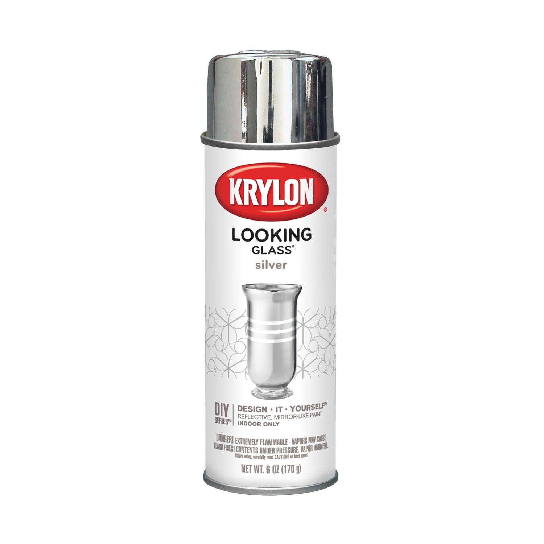 krylon looking glass silver spray paint 6 oz