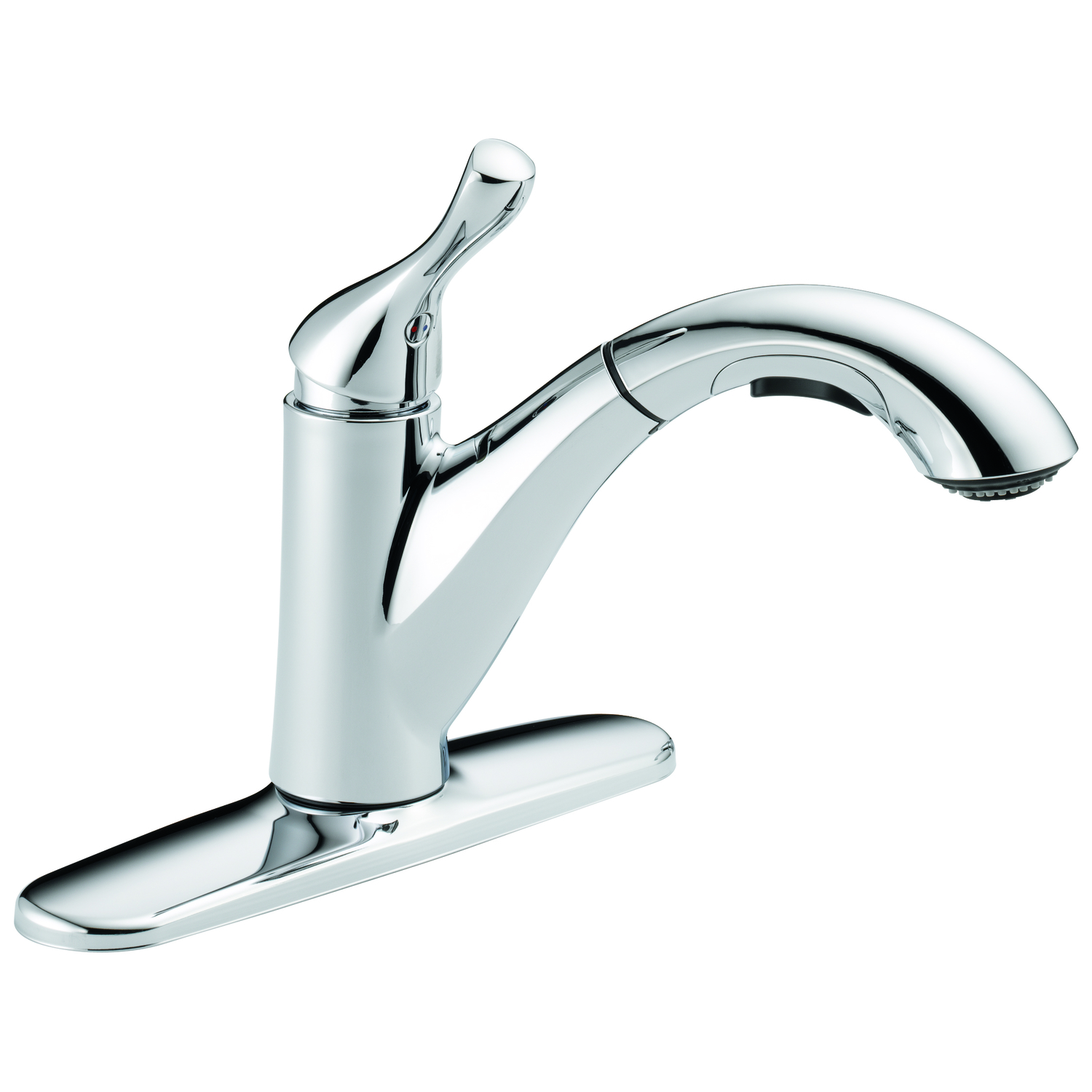 delta grant one handle chrome pull out kitchen faucet