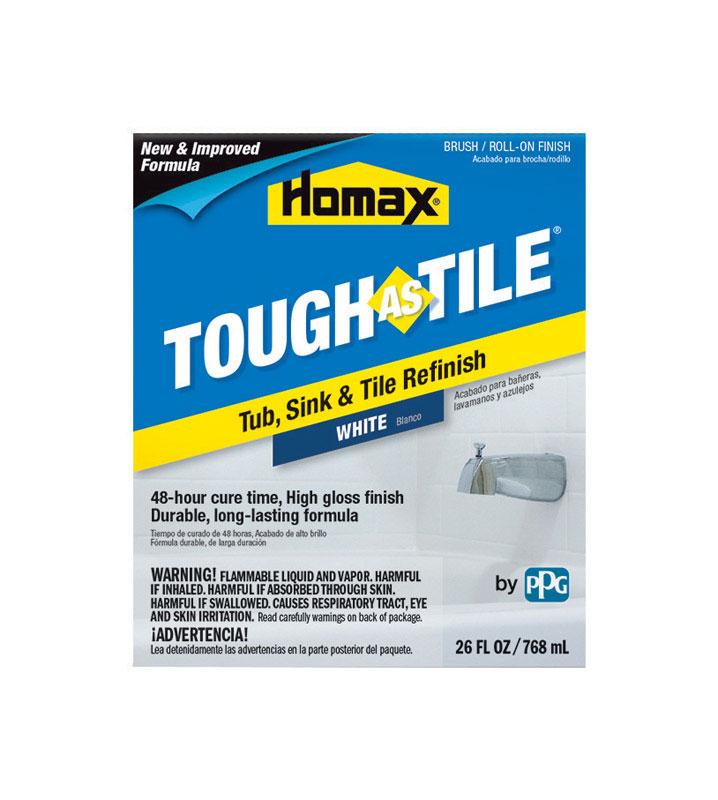 homax tough as tile gloss white tub and tile refinishing kit interior 26 oz