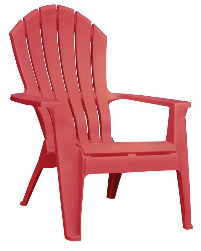 red adirondack chairs rocking chair with ottoman walmart adams realcomfort polypropylene ace hardware
