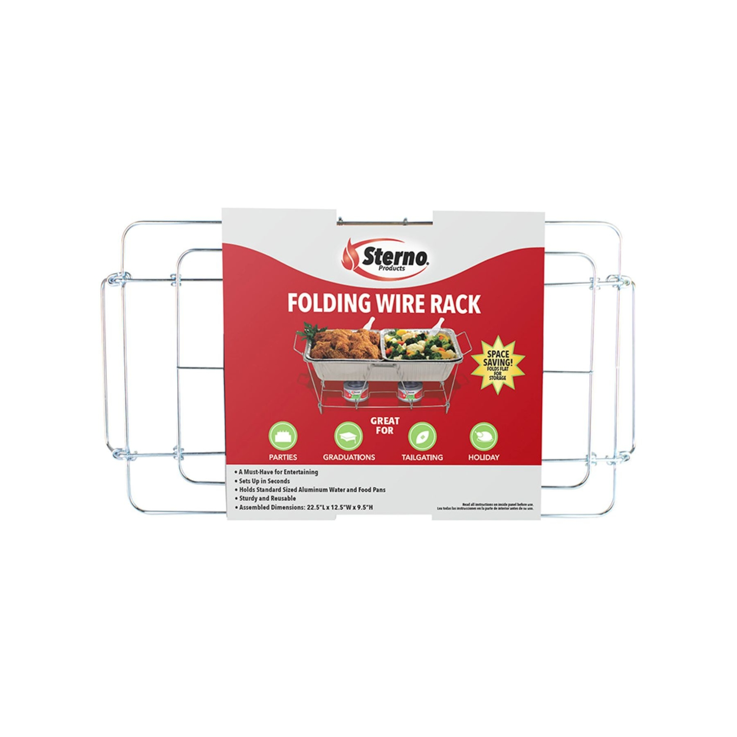 Sterno Wire Chafing Dish Rack 9-1 2 In. X 12.13 22.75 L 1 Pk - Ace Hardware