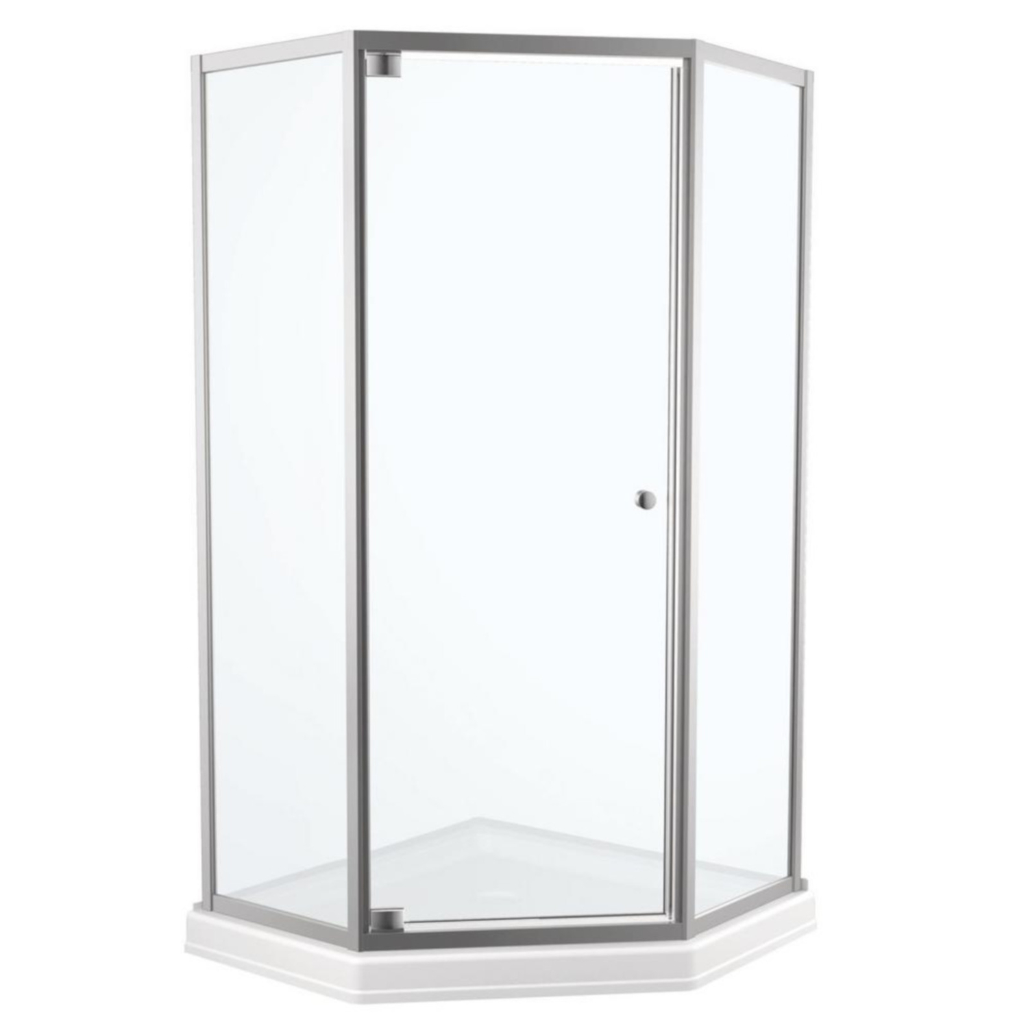 Delta 67 1 2 In H X 26 In W Chrome Shower Door Ace Hardware
