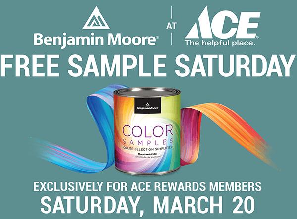 free sample saturday ace hardware