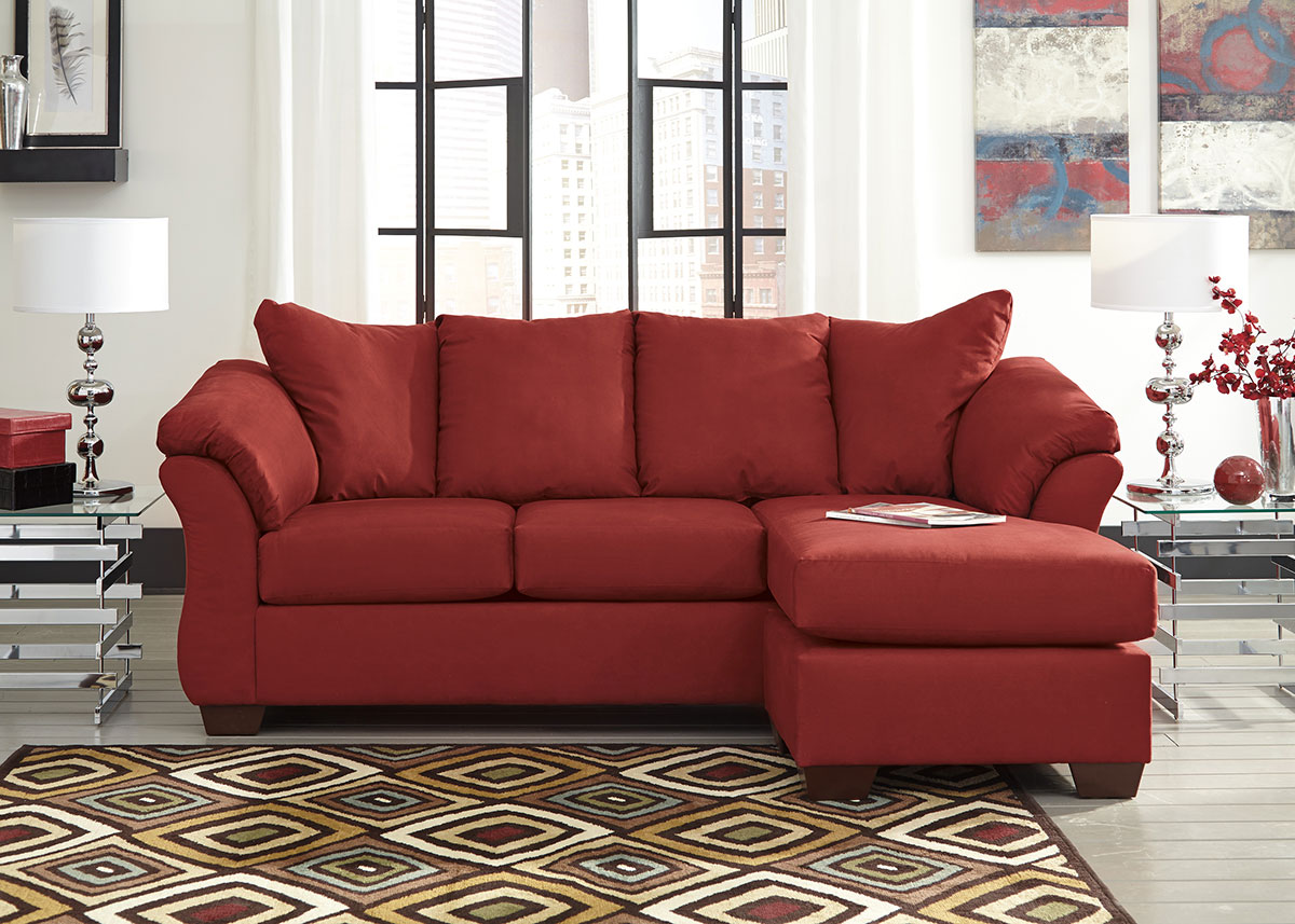red couch living room photos queen anne sets sectionals the roomplace dharma sofa chaise