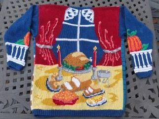 horribly ugly Thanksgiving sweater