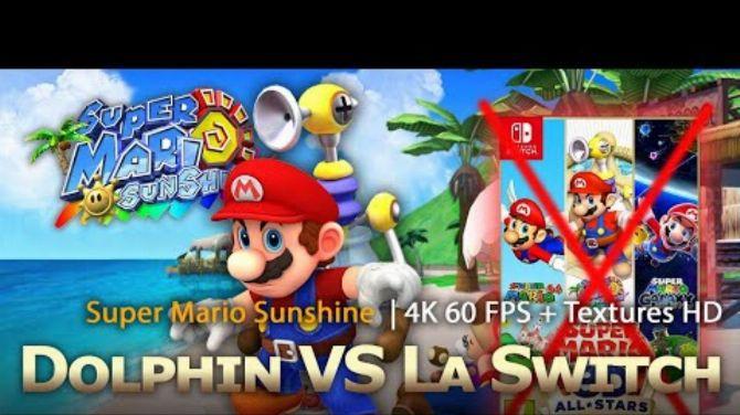 Super Mario Sunshine 4K 60FPS 16/9 + HD Textures – Dolphin VS Super Mario 3D All stars