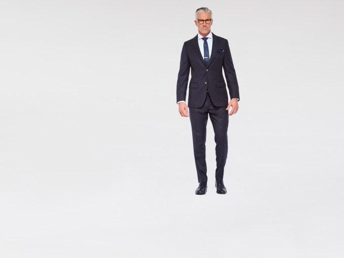 Charcoal Mini Double Check Suit