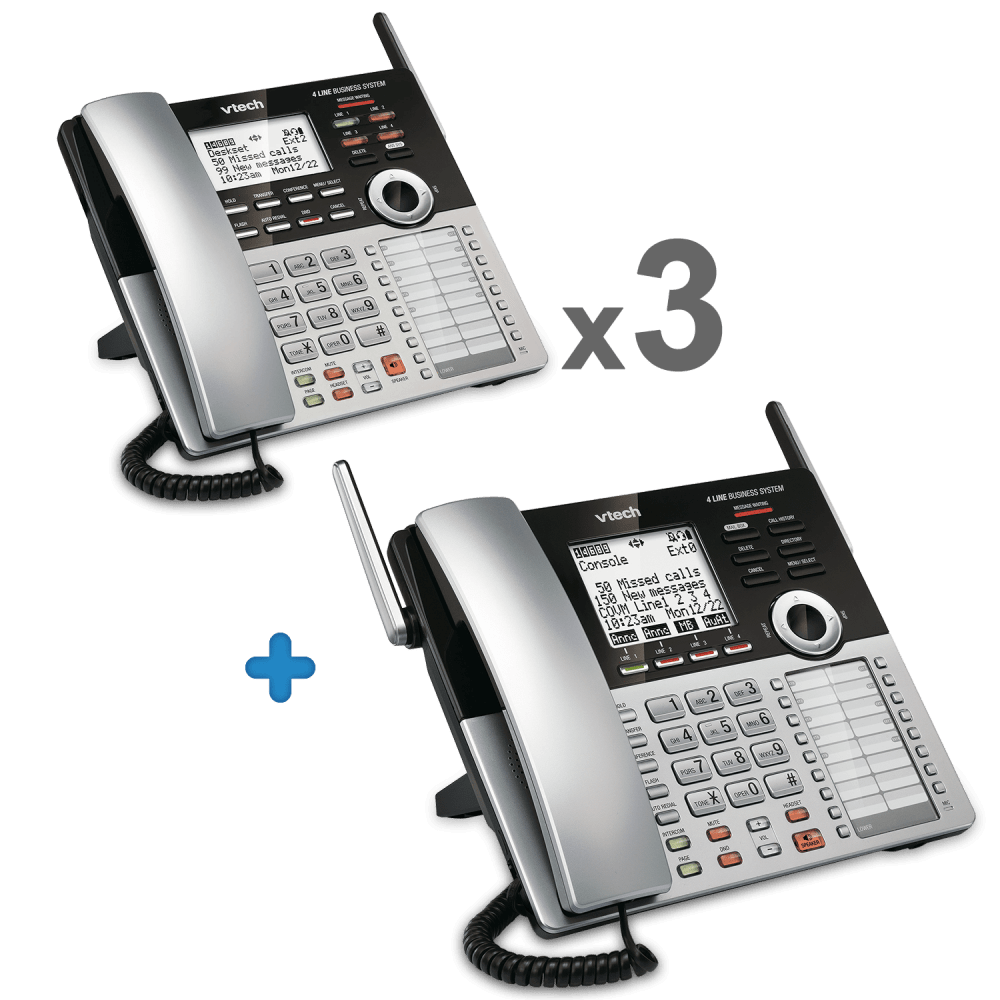 medium resolution of 4 line small business phone system starter bundle