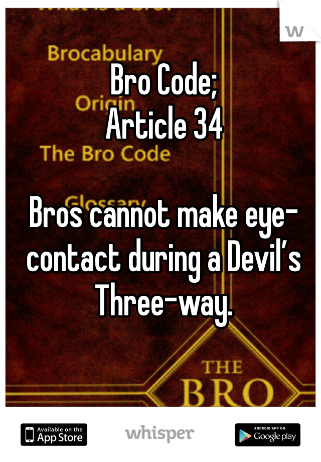 bro code article 34
