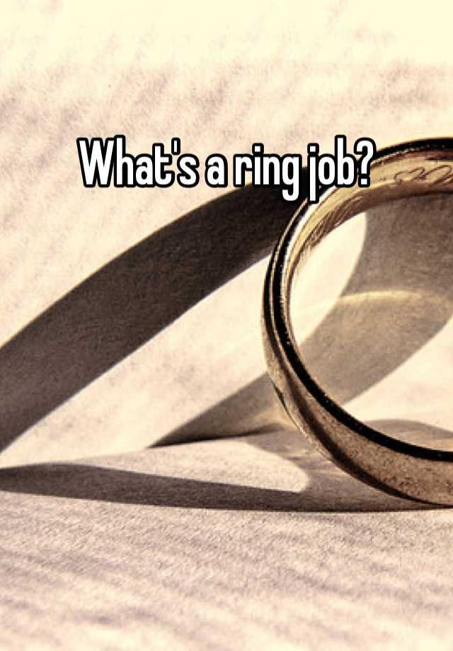 Ringjob : ringjob, What's