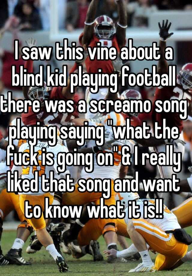 Blind Kid Playing Football : blind, playing, football, About, Blind, Playing, Football, There, Screamo, Saying,
