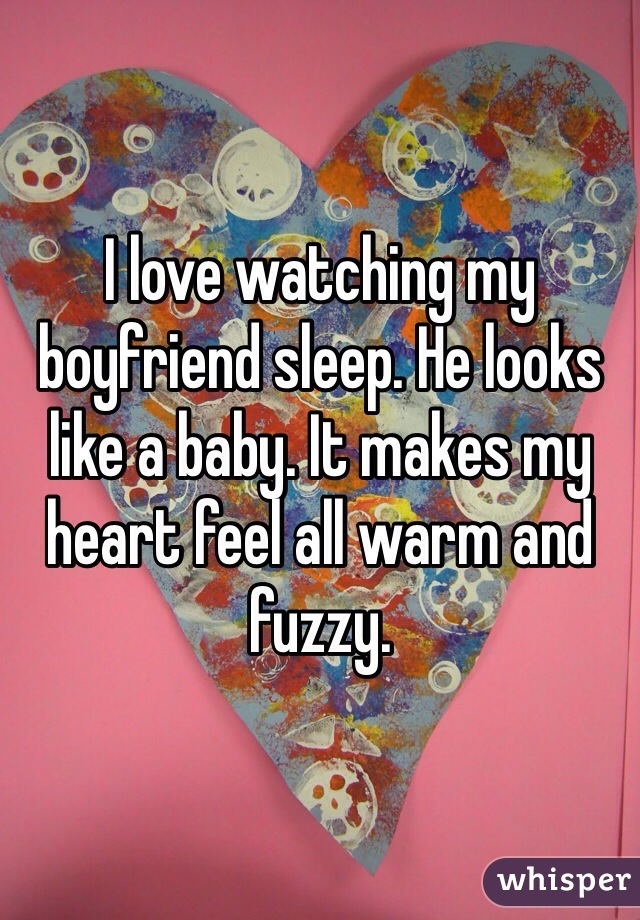 How Will Me And My Boyfriend Baby Look Like : boyfriend, Watching, Boyfriend, Sleep., Looks, Baby., Makes, Heart