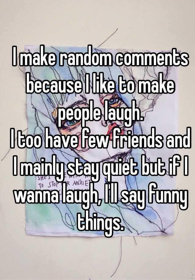 Funny Things Say Make Someone Laugh