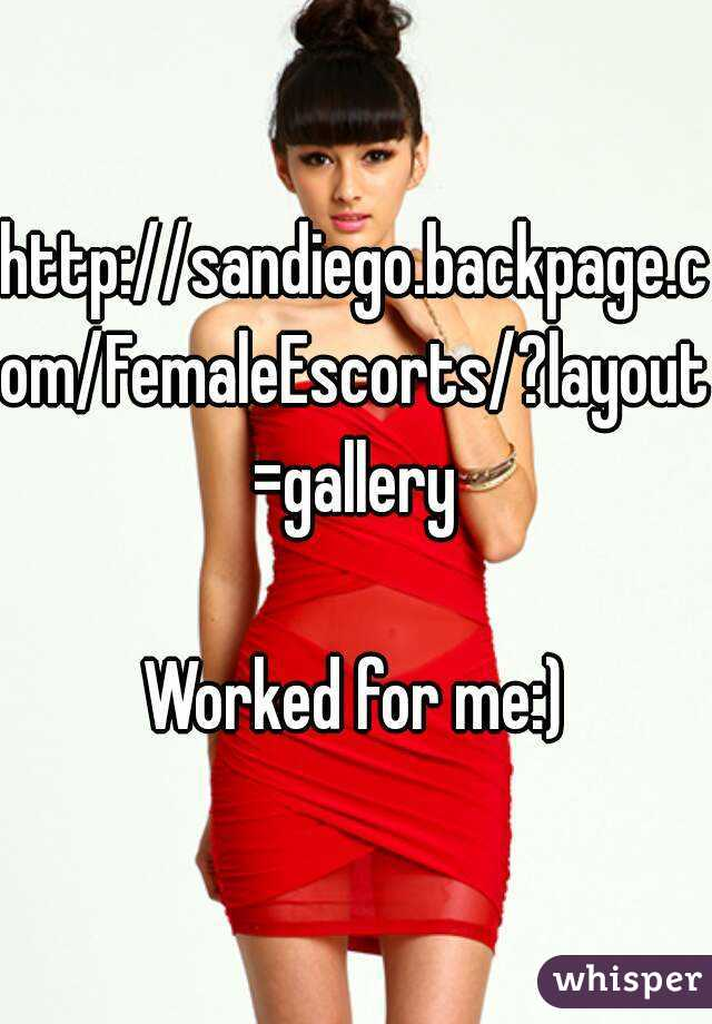 Sandiego Backpage Com Femaleescorts Layoutgallery Worked For Me