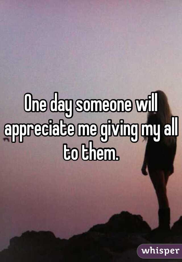 one day someone will