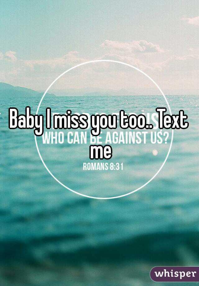 Miss U Too Baby : Too..