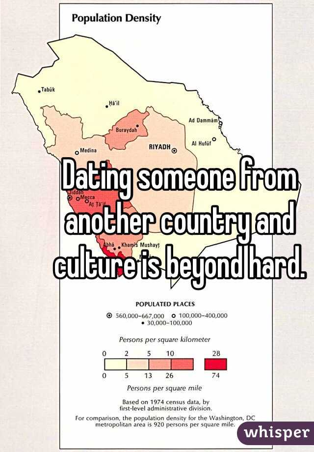 dating someone from another