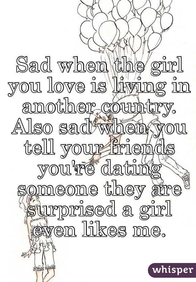 sad when the girl