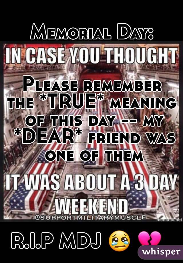 memorial day please remember