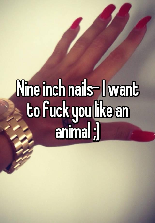 Nine Inch Nails Like An Animal : nails, animal, Nails-, Animal