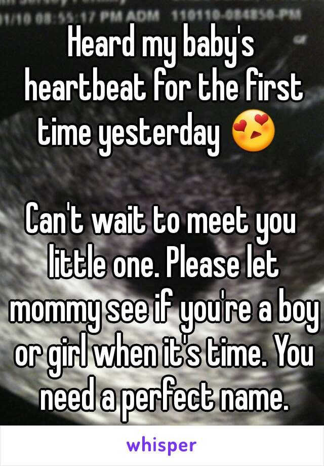heard my baby s