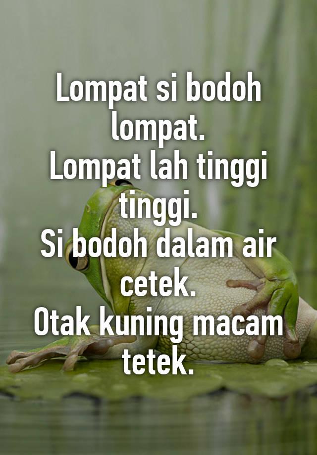 Macam Lompat : macam, lompat, Lompat, Bodoh, Lompat., Tinggi, Tinggi., Dalam, Cetek., Kuning, Macam, Tetek.