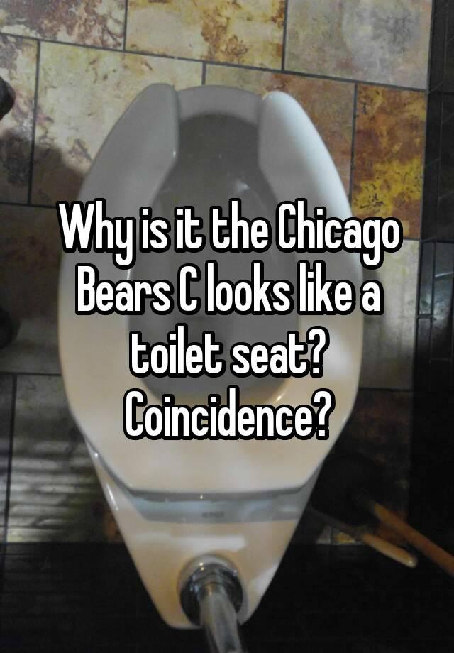 Chicago Bears Toilet Seat : chicago, bears, toilet, Chicago, Bears, Looks, Toilet, Seat?, Coincidence?