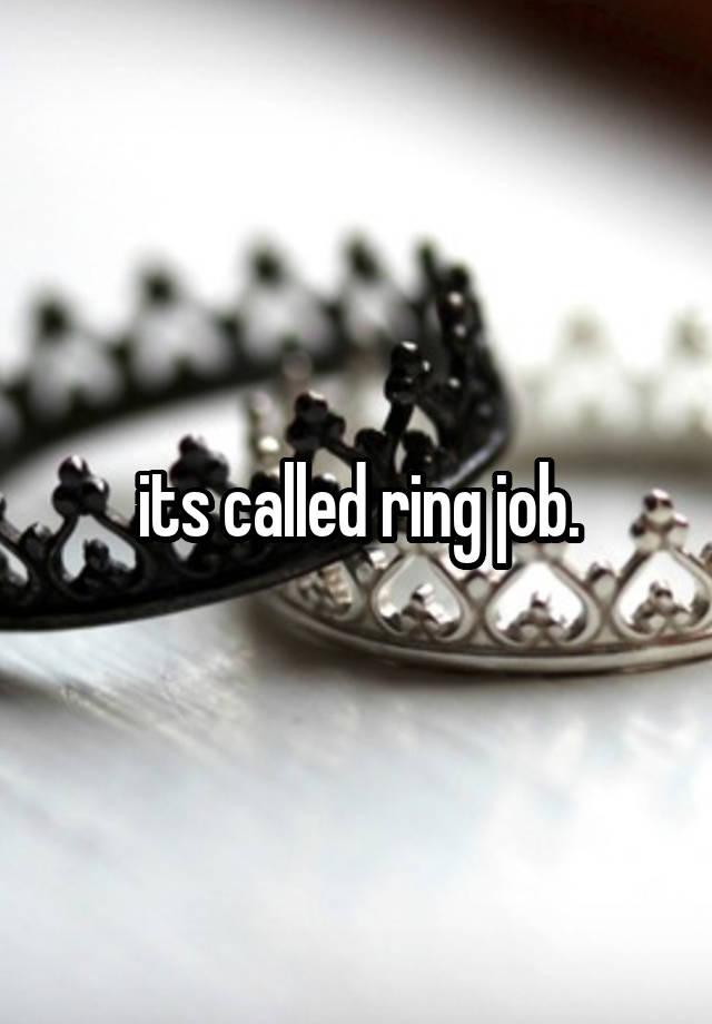 Ringjob : ringjob, Called