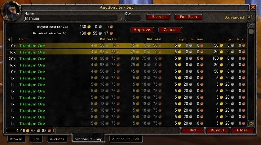 AuctionLite : Auction House & Vendors : World of Warcraft AddOns