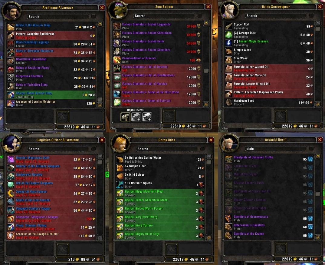 xMerchant : Auction House & Vendors : World of Warcraft AddOns