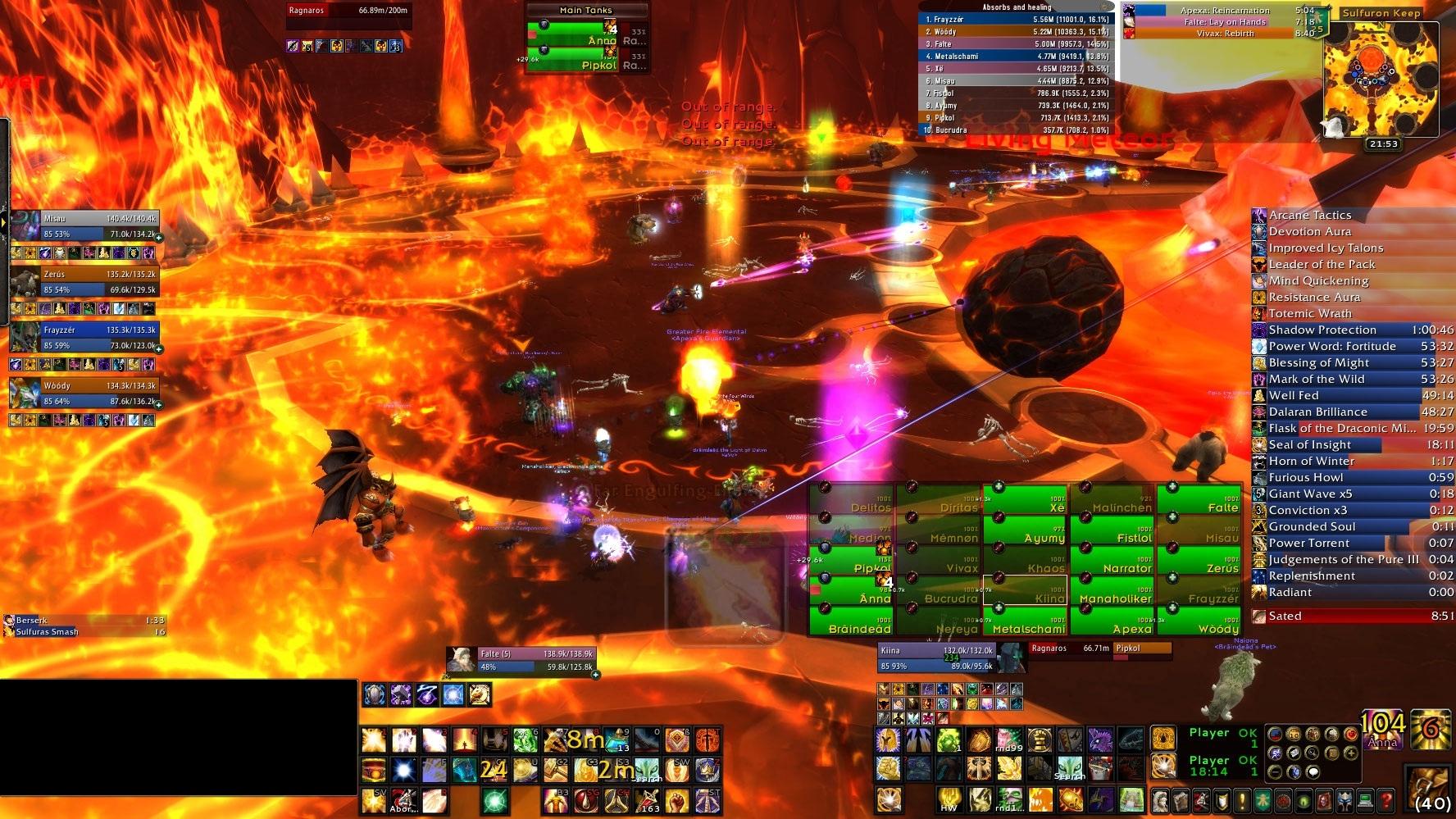 Falte's Raiding UI 1920x1080 : Healer Compilations : World of Warcraft AddOns