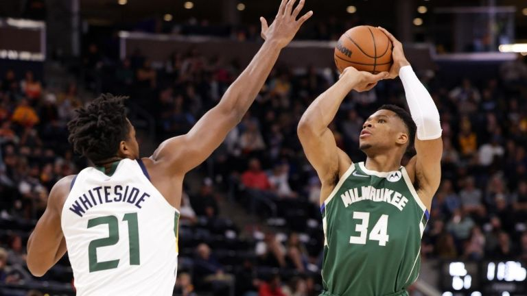 """Watch """"Khris Middleton has turned Giannis into the GOAT!"""": NBA neighborhood finds surprising similarities between the Bucks stars because the Greek Freak exhibits off his brand-new jumper – The SportsRush – Google NBA News"""