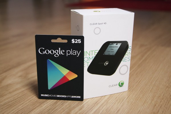Day 14 #25daysofgiveaways Win 4g Clear Hotspot & 25 Google Play Card - Androidtapp